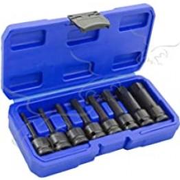 Set of 8 Keys Impact Socket 1/2'' Allen bits 5-19mm, 78mm, Alyco 198300
