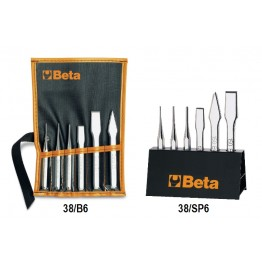 Set of 6 drift Punches and Cape Chisels, 38/B6