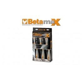 Set of 6 hi-torque hexagon nut spinners with bi-material handles, 943BX/D6