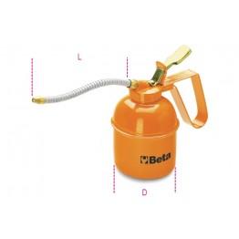 Metal pressure oil cans flexible spout, 1751