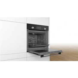 Serie 2 Built-in oven with 3D hot air 60 x 60 cm  Black - HHF113BA0B