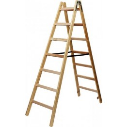 Wooden Stepladder 2x10 rungs Height of stepladder 2,64m