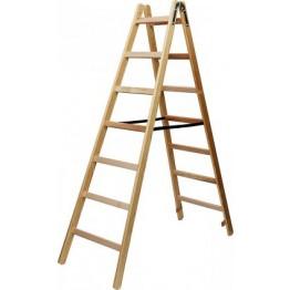 Wooden Stepladder 2x10 rungs Height of stepladder 2,64m