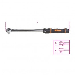 3/8'' Click-type torque wrenches with reversible ratchets, for right-hand tightening, torque accuracy: ±3% 666N/5