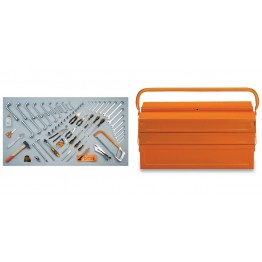 Mechanical Tool box with Assortment of 80 tools for Universal use