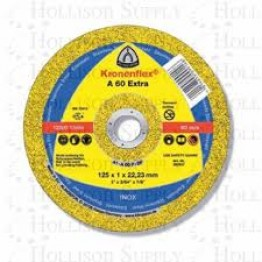 Kronenflex® cutting-off wheels for Stainless steel, Steel A 60 TZ, 115 x 22.23 x 1 mm, flat for INOX  1 PC