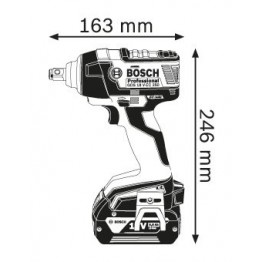 Cordless Impact Wrench, GDS 18 V-EC 250 Professional