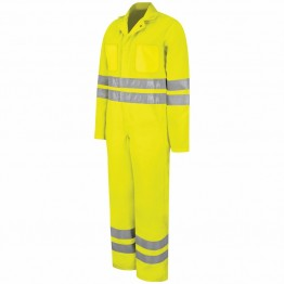 Fluorescent Hi-Visibility Zip-Front Coverall Yellow/Green