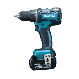 Cordless drill 13 mm, 18V, 2 x battery 4.0 Ah & charger, case