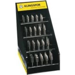 HF 100 set, 40 piece burr set, cut 6, in lockable Klingspor presentation box Carbide Burr KL300627