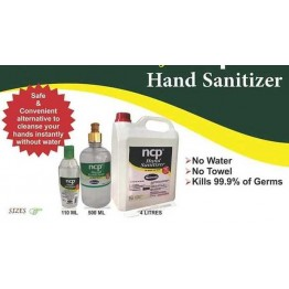 NCP Hand Sanitizer, 110ml, 500ml, 4ltrs