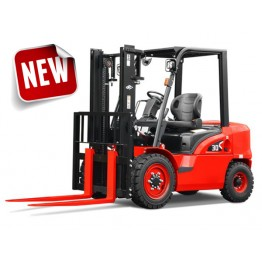 Forklift Truck 3tons, Petrol/Gas Nissan K25 Dual Fuel Engine
