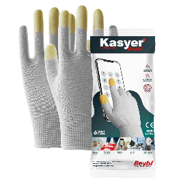 Kasyer Touch Screen Plus Polyester White Glove, Size 9 -3 Pairs (Packed)