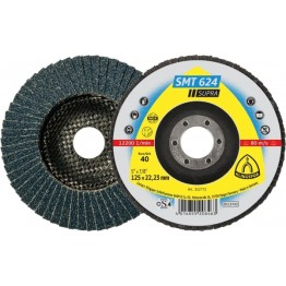 Flap disc SMT 624 Supra, 115 x 22.23, 40 grit, for INOX