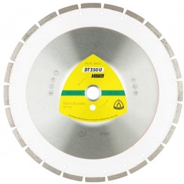 Klingspor Diamond Cutting Discs DT 350 U 350 x 25.4mm for universal, 24 segments