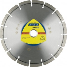 Klingspor Diamond Cutting Discs DT 600 GU 125 x 22.23, for granite, 9 segments