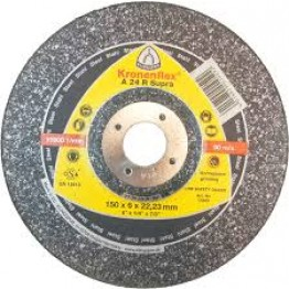 Kronenflex® grinding discs for Metals A 24 EX T GEK, 230 x 22.23 x 6 mm, depressed for metal 1 PC