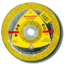 Kronenflex Grinding wheel A 24 Extra, 180 x 22.23 x 6 mm, Depressed for Metal - 1pc