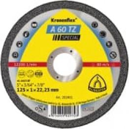 Kronenflex cutting-off wheel A 60 TZ, 125 x 22.23 x 1 mm, flat, for INOX KL202401