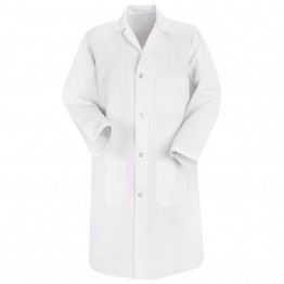 Unisex Lab Coats - White & Navy Blue