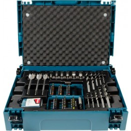 Drill and Bit Set, 0 V, Blue/Black
