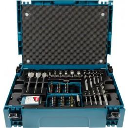 Drill and Bit Set, 0 V, Blue/Black