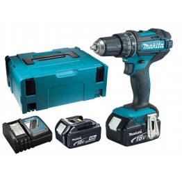 Cordless Combi Hammer Drill 18v, DHP482RMJ  2X4.0Ah Batteries + Charger in MakPac Case
