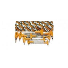 Set of 10 offset Hexagon Key Wrenches in Box 96TAS/10