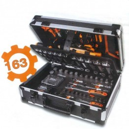 Complete Mechanical Tool box suitcase with assortment of 163 general maintenance tools, 2056E