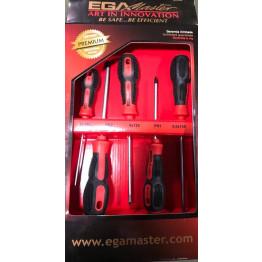 Set of 5 Screwdrivers ELECT-PH Mastertork in Cardboard Case, 69858