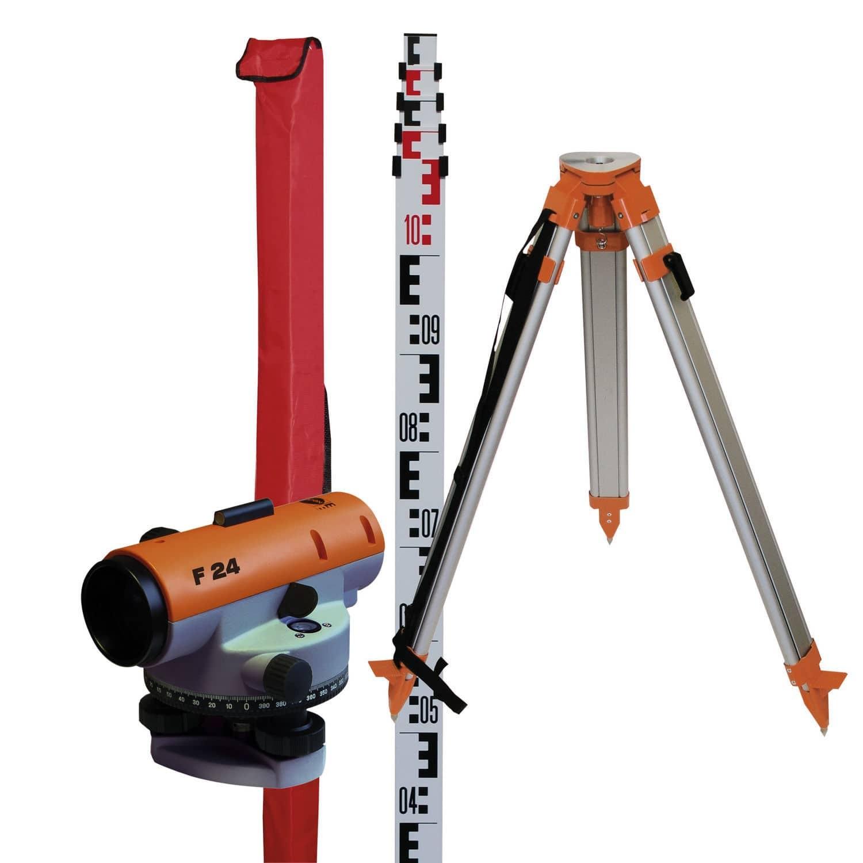 Automatic Optical level F24, 360 degree, set incl. rod +tripod