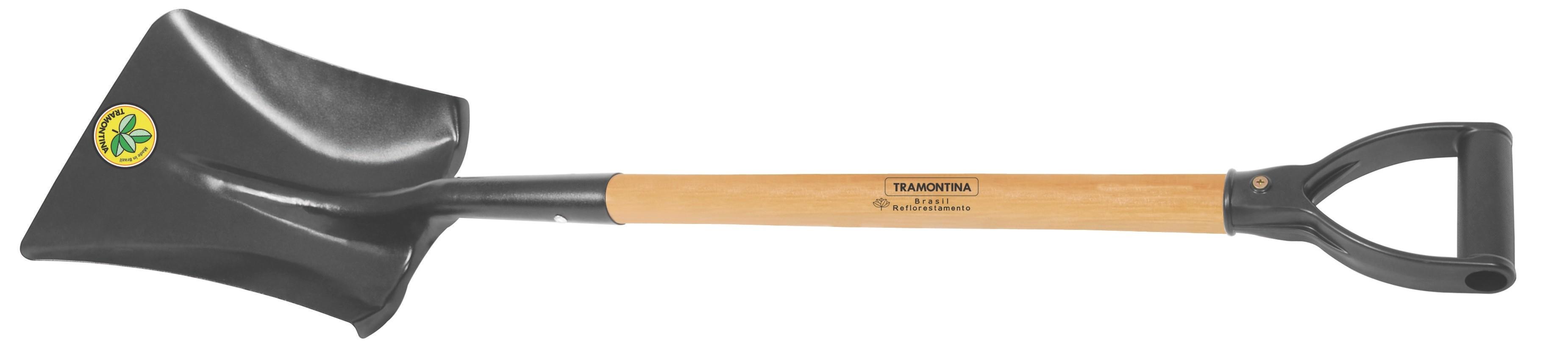 Square mouth shovel, 71 cm wood handle 77472/424