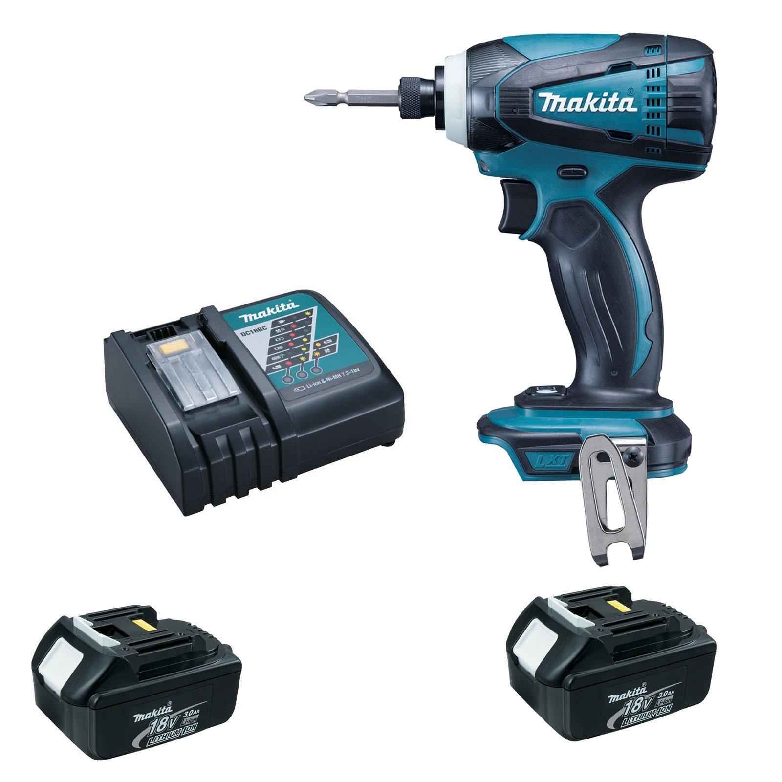 Impact Driver 18V, 2 x 3.0Ah batteries & charger